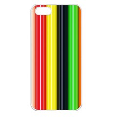 Stripes Colorful Striped Background Wallpaper Pattern Apple iPhone 5 Seamless Case (White)
