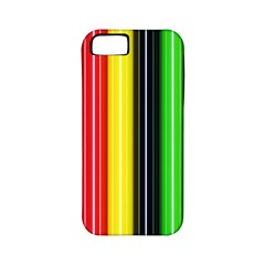 Stripes Colorful Striped Background Wallpaper Pattern Apple iPhone 5 Classic Hardshell Case (PC+Silicone)