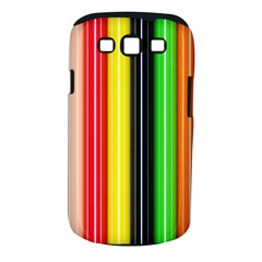 Stripes Colorful Striped Background Wallpaper Pattern Samsung Galaxy S III Classic Hardshell Case (PC+Silicone)
