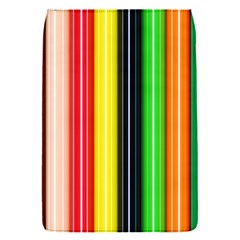 Stripes Colorful Striped Background Wallpaper Pattern Flap Covers (S)