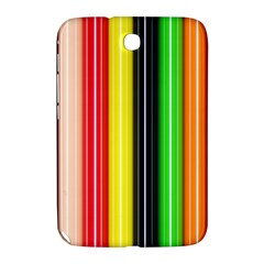 Stripes Colorful Striped Background Wallpaper Pattern Samsung Galaxy Note 8.0 N5100 Hardshell Case