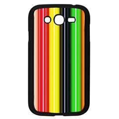 Stripes Colorful Striped Background Wallpaper Pattern Samsung Galaxy Grand DUOS I9082 Case (Black)