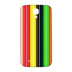 Stripes Colorful Striped Background Wallpaper Pattern Samsung Galaxy S4 I9500/I9505  Hardshell Back Case