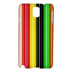 Stripes Colorful Striped Background Wallpaper Pattern Samsung Galaxy Note 3 N9005 Hardshell Case