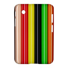 Stripes Colorful Striped Background Wallpaper Pattern Samsung Galaxy Tab 2 (7 ) P3100 Hardshell Case