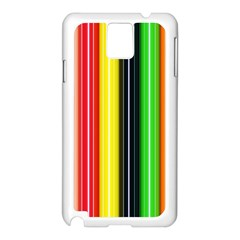 Stripes Colorful Striped Background Wallpaper Pattern Samsung Galaxy Note 3 N9005 Case (White)