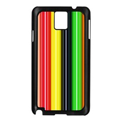 Stripes Colorful Striped Background Wallpaper Pattern Samsung Galaxy Note 3 N9005 Case (Black)