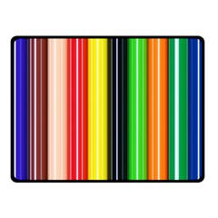Stripes Colorful Striped Background Wallpaper Pattern Double Sided Fleece Blanket (Small)