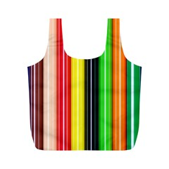 Stripes Colorful Striped Background Wallpaper Pattern Full Print Recycle Bags (m)