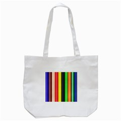 Stripes Colorful Striped Background Wallpaper Pattern Tote Bag (White)