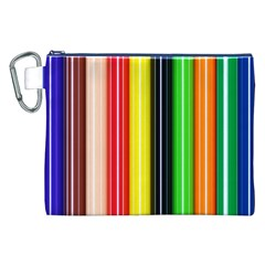 Stripes Colorful Striped Background Wallpaper Pattern Canvas Cosmetic Bag (XXL)