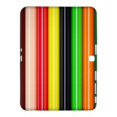 Stripes Colorful Striped Background Wallpaper Pattern Samsung Galaxy Tab 4 (10.1 ) Hardshell Case