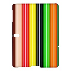 Stripes Colorful Striped Background Wallpaper Pattern Samsung Galaxy Tab S (10 5 ) Hardshell Case