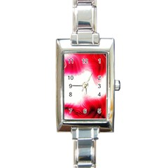 Abstract Pink Page Border Rectangle Italian Charm Watch