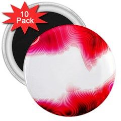 Abstract Pink Page Border 3  Magnets (10 Pack)