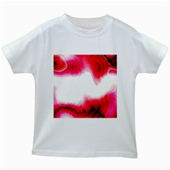 Abstract Pink Page Border Kids White T-Shirts