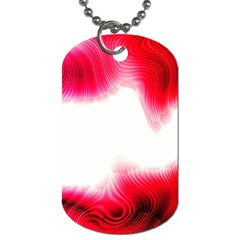 Abstract Pink Page Border Dog Tag (Two Sides)