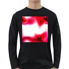 Abstract Pink Page Border Long Sleeve Dark T-Shirts