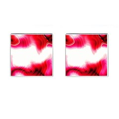 Abstract Pink Page Border Cufflinks (square)