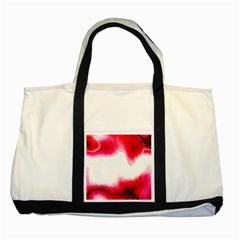 Abstract Pink Page Border Two Tone Tote Bag