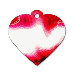 Abstract Pink Page Border Dog Tag Heart (one Side)