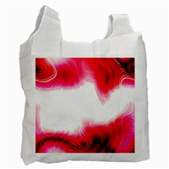 Abstract Pink Page Border Recycle Bag (one Side)