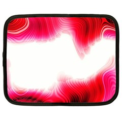 Abstract Pink Page Border Netbook Case (xxl)
