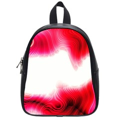 Abstract Pink Page Border School Bags (small)