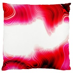 Abstract Pink Page Border Large Cushion Case (Two Sides)