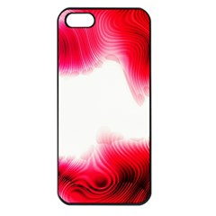 Abstract Pink Page Border Apple Iphone 5 Seamless Case (black)