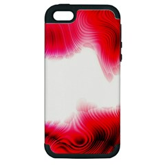 Abstract Pink Page Border Apple iPhone 5 Hardshell Case (PC+Silicone)