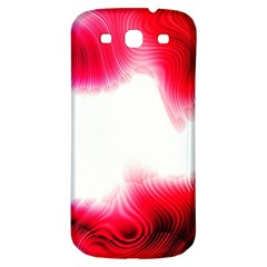 Abstract Pink Page Border Samsung Galaxy S3 S III Classic Hardshell Back Case