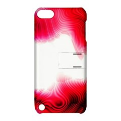 Abstract Pink Page Border Apple iPod Touch 5 Hardshell Case with Stand