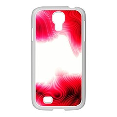 Abstract Pink Page Border Samsung GALAXY S4 I9500/ I9505 Case (White)