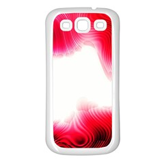 Abstract Pink Page Border Samsung Galaxy S3 Back Case (White)