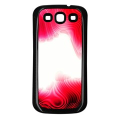 Abstract Pink Page Border Samsung Galaxy S3 Back Case (Black)