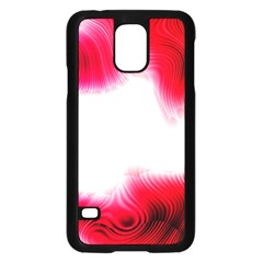 Abstract Pink Page Border Samsung Galaxy S5 Case (Black)
