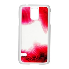 Abstract Pink Page Border Samsung Galaxy S5 Case (white)