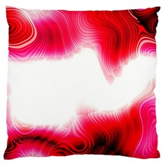 Abstract Pink Page Border Standard Flano Cushion Case (One Side)