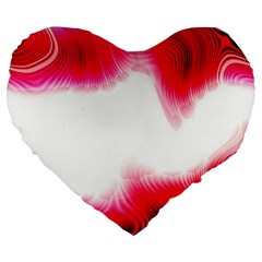 Abstract Pink Page Border Large 19  Premium Flano Heart Shape Cushions