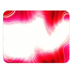 Abstract Pink Page Border Double Sided Flano Blanket (large)