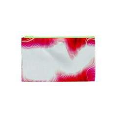 Abstract Pink Page Border Cosmetic Bag (XS)