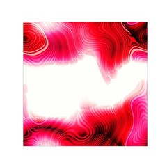 Abstract Pink Page Border Small Satin Scarf (Square)