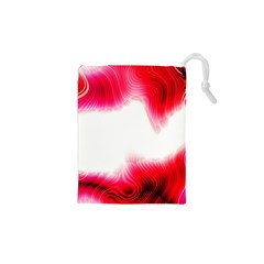 Abstract Pink Page Border Drawstring Pouches (xs)