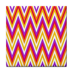 Colorful Chevrons Zigzag Pattern Seamless Tile Coasters
