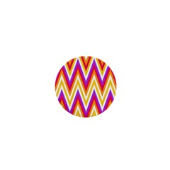 Colorful Chevrons Zigzag Pattern Seamless 1  Mini Magnets