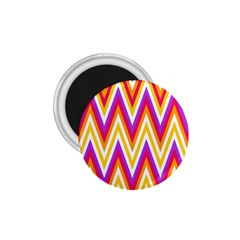 Colorful Chevrons Zigzag Pattern Seamless 1.75  Magnets