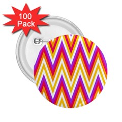 Colorful Chevrons Zigzag Pattern Seamless 2 25  Buttons (100 Pack)