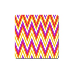 Colorful Chevrons Zigzag Pattern Seamless Square Magnet