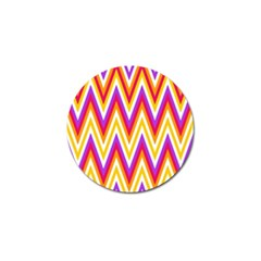 Colorful Chevrons Zigzag Pattern Seamless Golf Ball Marker (4 Pack)